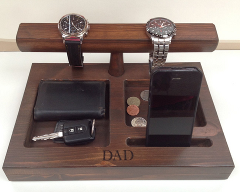 Personalised Father's Day watch stand