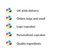 UK deliver for logo cupcakes and cupcake gift boxes