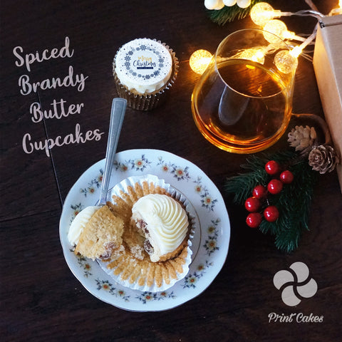 Spice Brandy Butter Cupcakes