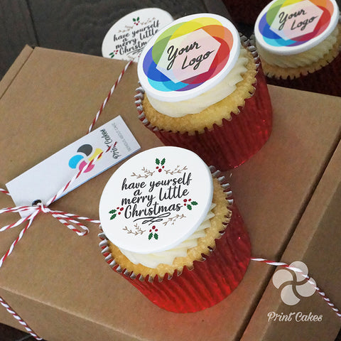 Christmas Cupcake gift box uk delivery