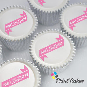Logo cupcakes for corporate events