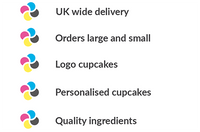 UK delivery for logo cupcakes and cupcake gift boxes