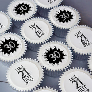 30th birthday cupcake gift box | UK Delivery
