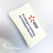 printed branded chocolate bar
