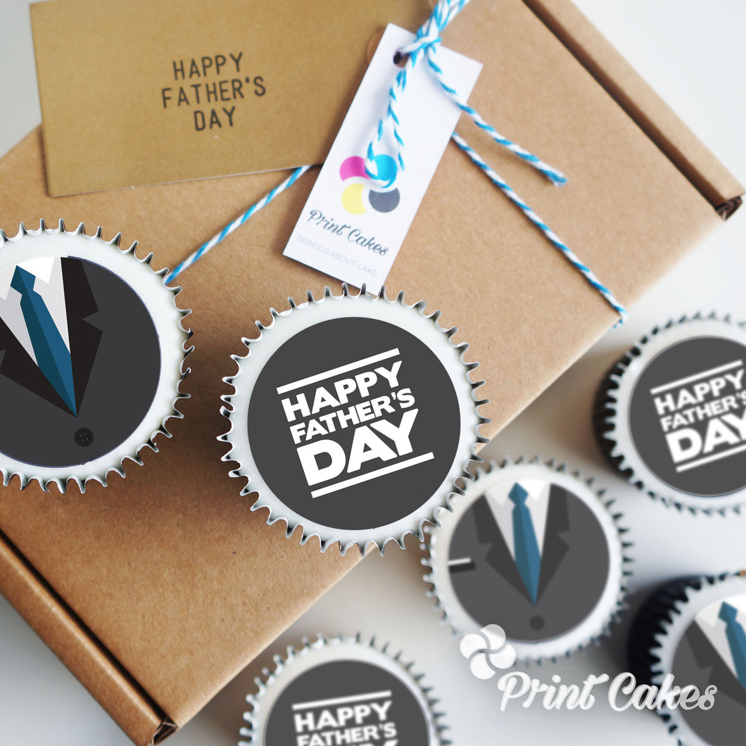 Father's Day Cupcake Gift Box Idea