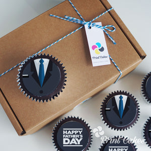 Chocolate Father's Day Cupcake Gift Box - Tux