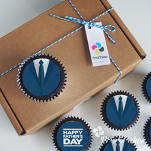 Chocolate Father's Day cupcakes - Suit Cupcakes