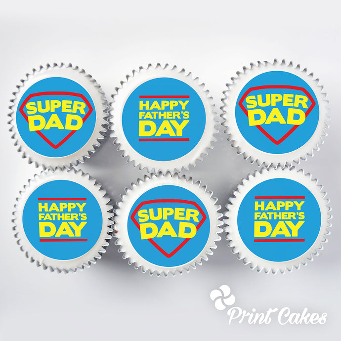 Father's Day Cupcake Gift Box - Super Dad design
