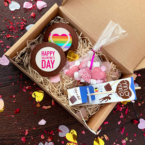 rainbow valentines day biscuit gift box uk delivery