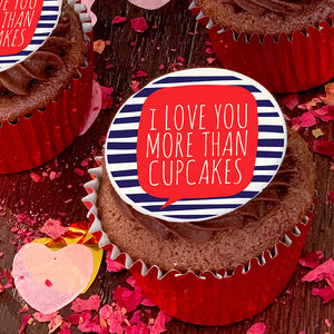 valentines day i love you more than cupcakes gift