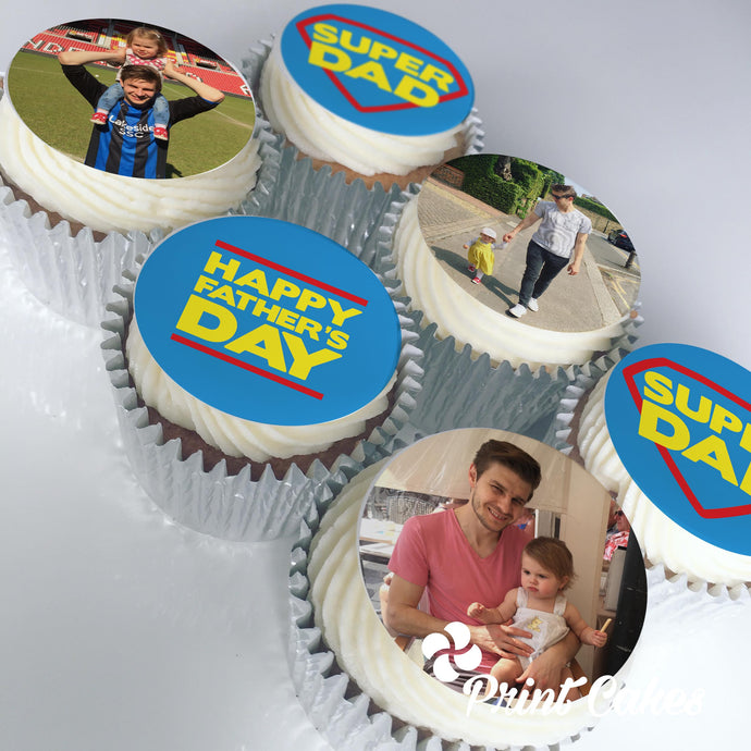 Personalised Photo Father's Day Cupcake Gift Box