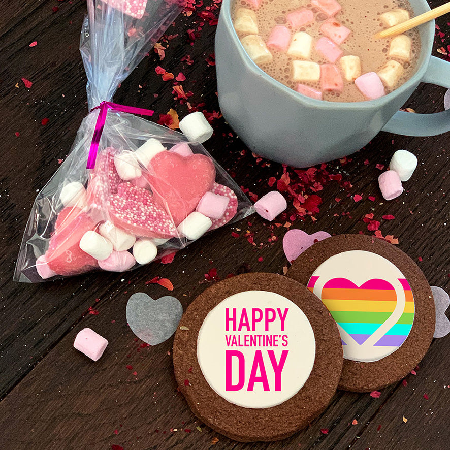 rainbow valentines day gift box uk delivery