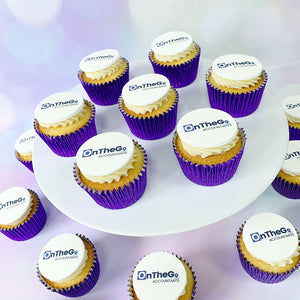 logo cupcakes to individual addresses