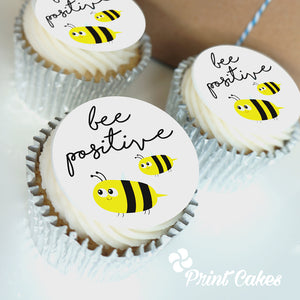be positive corona virus cupcake gift box
