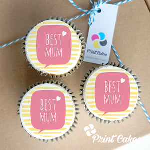 Buttercream Best Mum Cupcake Gift Box