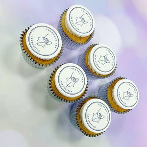 quality logo branded cupcakes