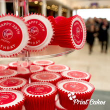 Branded cupcakes for UK corporate events