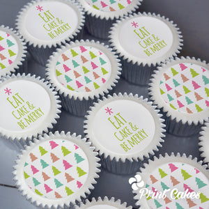 Eat cake and be merry Christmas cupcakes delivered in the UK