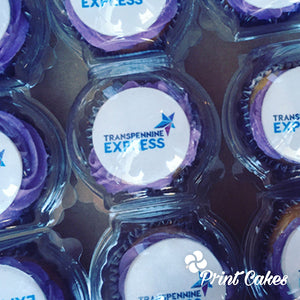 packaged logo cupcakes