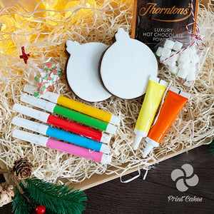 Christmas biscuit bauble decorating kit