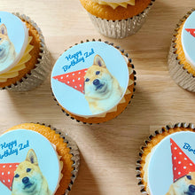 dog photo cupcake gift box