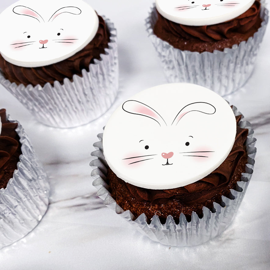chocolate easter bunny cupcake gift uk