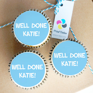 message cupcake gift box