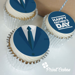 Father's Day Suit Buttercream Cupcakes