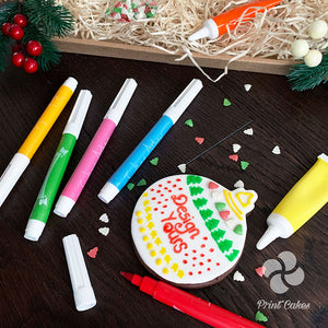 Christmas biscuit bauble decorating gift box