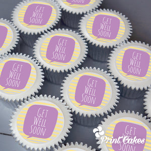 Get Well Soon printed cupcakes from Printcakes
