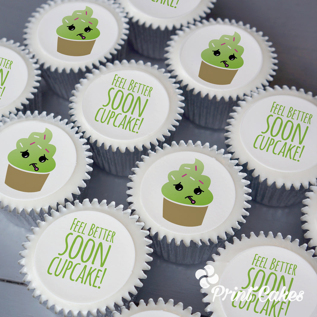 Get well soon cupcakes