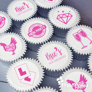 Personalised Hen Party Cupcakes