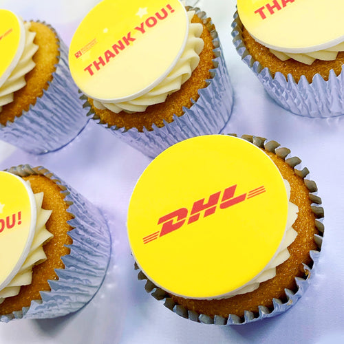logo branded cupcakes uk delivery