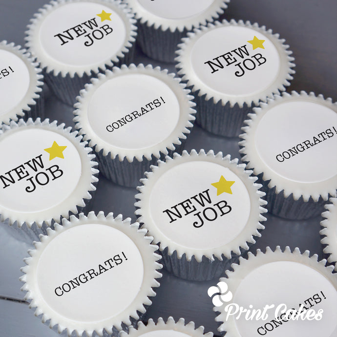 New Job themed cupcakes gift