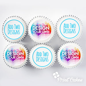 Personalised edible photo cupcake gift boxes - two designs