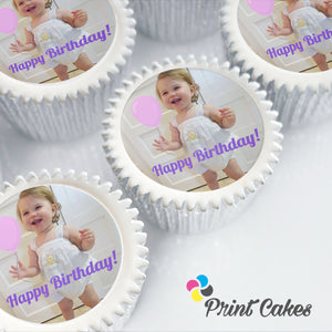 personalised edible photo cupcakes for gifts and events