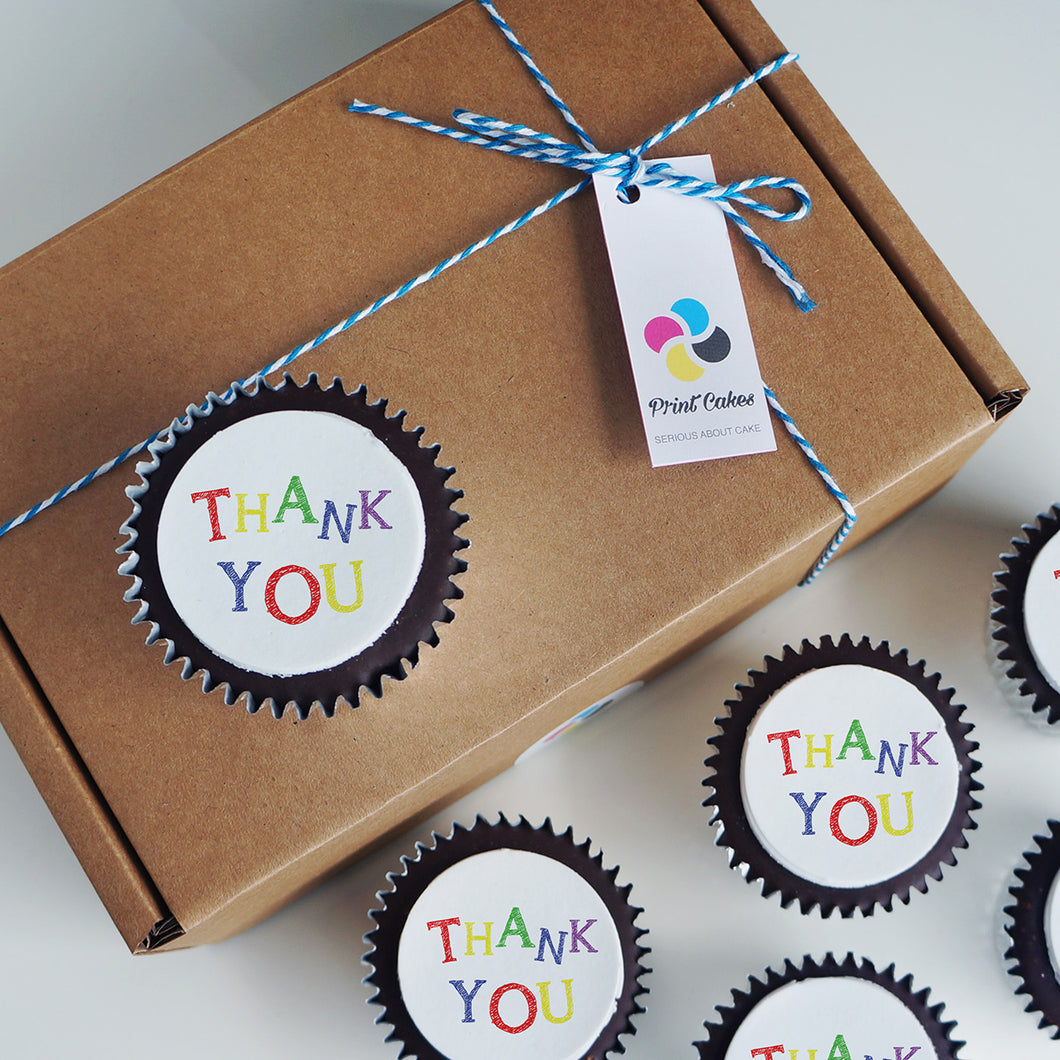 Bright Thank You Cupcake Gift Box