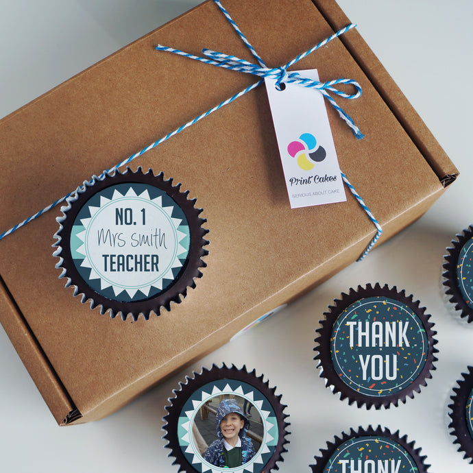 Personalised Thank You Teacher Cupcake Gift Box