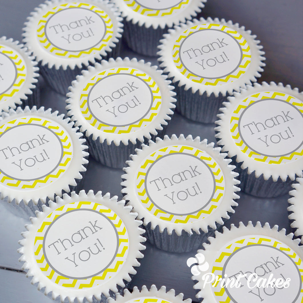 Printed thank you cupcakes delivered in the UK