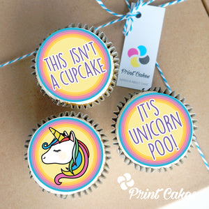 unicorn poo cupcake gift box