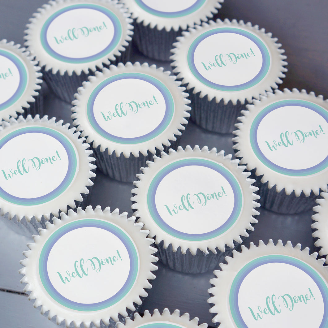Well done cupcake gifts from Print Cakes UK