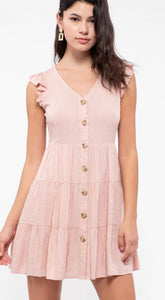 Our best selling dress available NOW in Dusty Rose