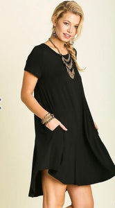 Short sleeve pocket tee dress
