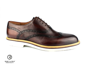 RJ 41602 | Toledo Bourbon Oxford Wingtip Medallion