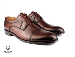 RJ 49203 | Brown Derby Cap Toe