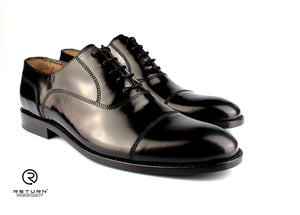RJ 49204 | Black Oxford Cap Toe Polished