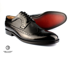RJ 49205 | Black Derby Longwing with Bogues Polished