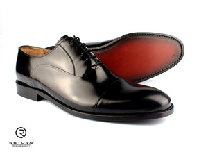 RJ 49208 | Black Oxford Cap Toe Polished