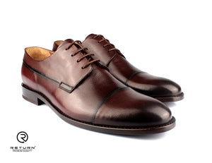 RJ 49210 | Brown Derby Cap Toe Partway Grained