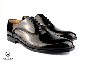 RJ 49216 | Black Oxford Plain Toe Polished